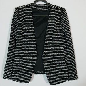 Theory Yaisa Striped Open Blazer Textured